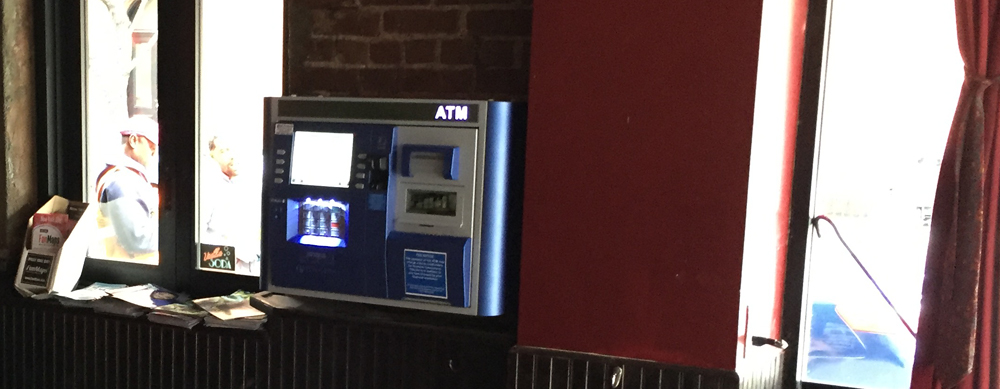 small wall mounted atm nyc